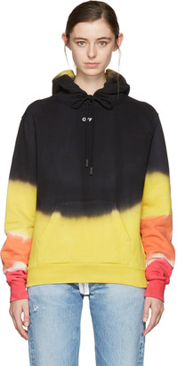 Off-White Multicolor Tie-Dye Pleat Hoodie $570 thestylecure.com