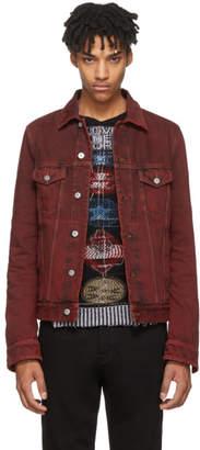 Valentino Red Washed Denim Jacket