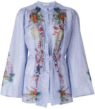 Etro floral print gathered shirt