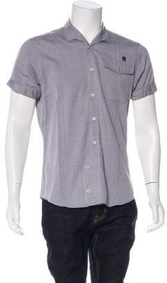 G Star Embroidered Button-Up Shirt