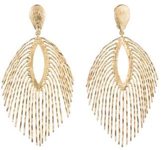 Josie Natori 24K Gold Plated Brass Fringe Earrings