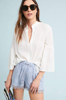 Moon River Pom-Trimmed Shorts