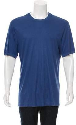 Giorgio Armani Silk-Blend Crew Neck T-Shirt