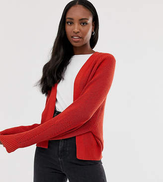 Asos Tall DESIGN Tall mixed rib cardigan in recycled blend