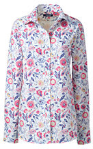 Lands' End Women's Tall Traditional No Iron Dress Shirt-Zinnia Paisley $69 thestylecure.com