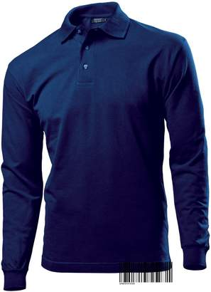 Hanes Underhood of London Long Sleeve Plain Polo T-shirt for Men - Regular Fit 100% Cotton Top Polo