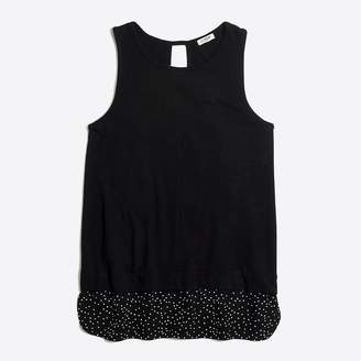 J.Crew Factory Drapey tank top with patterned silky hem