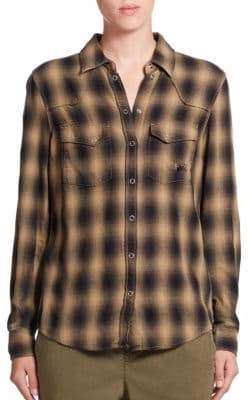 SET Buffalo Plaid Western Shirt