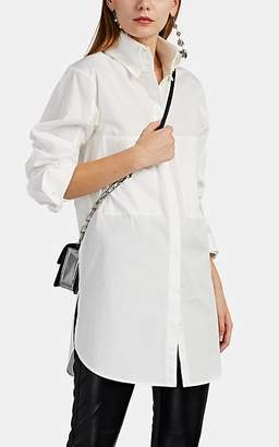 AKIRA NAKA Women's Cotton Button-Down Tunic Blouse - White