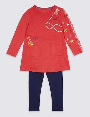 Marks and Spencer 2 Piece Top & Leggings Outfit (3 Months - 7 Years)