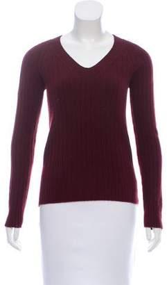 The Row V-Neck Long Sleeve Sweater