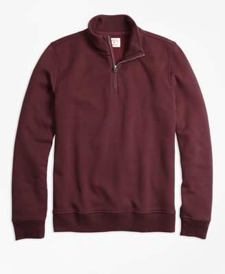 Brooks Brothers Half-Zip Pique-Fleece Sweatshirt