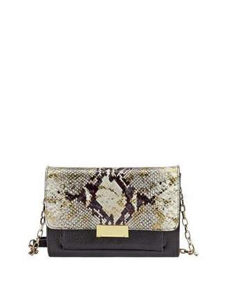 GiGi New York Kate Python-Embossed Small Crossbody Bag