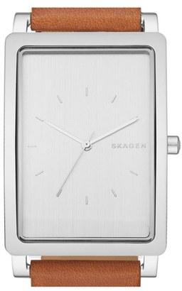 Skagen 'Hagen' Leather Strap Watch, 40Mm $165 thestylecure.com