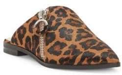 1 STATE 1.STATE Felid Leopard Print Calf Hair Mules