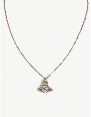 Vivienne Westwood Ariella crystal heart orb pendant