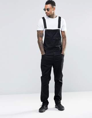 ASOS Overalls In Black Cotton $64 thestylecure.com