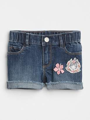 Gap Embroidery Patch Denim Shorts