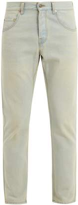 Gucci Logo-print mid-rise slim-leg jeans
