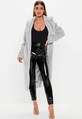 Missguided Long Faux Fur Coat