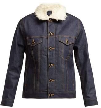 Khaite - Cate Faux Shearling Denim Jacket - Womens - Denim