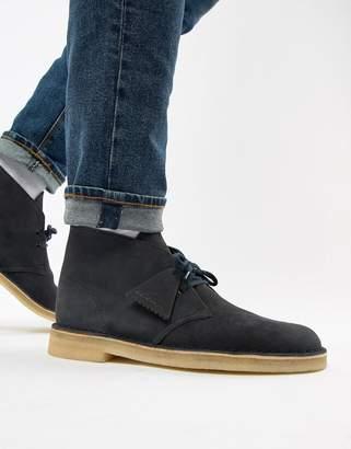 Clarks desert boots in ink suede