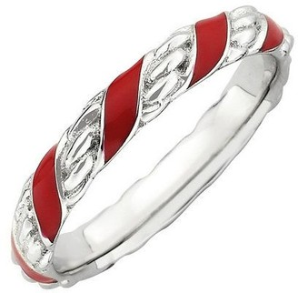Simply Stacks Sterling Epoxy Enamel Twisted Ring