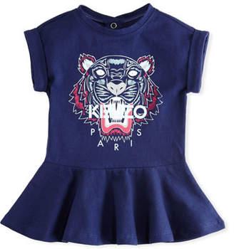 Kenzo Tiger Face Drop-Waist Dress, Navy, Size 2-3