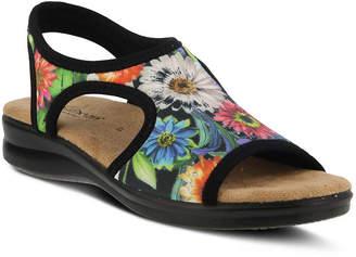FLEXUS Flexus Womens Nyaman-Bouquet Flat Sandals