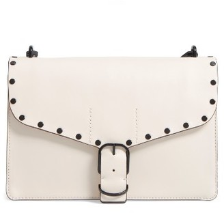 Rebecca Minkoff Medium Biker Leather Shoulder Bag - White $295 thestylecure.com