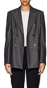 Calvin Klein Women's Glen Plaid Wool Blazer - Dark Grey Grenadine
