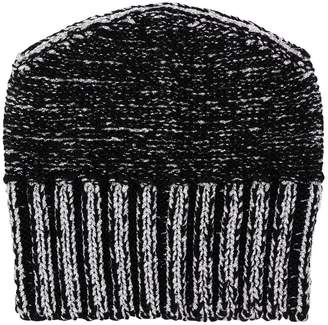 MM6 MAISON MARGIELA metallic-effect beanie hat