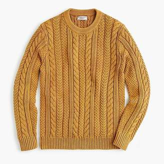 J.Crew Wallace & Barnes cable-knit crewneck sweater in washed cotton