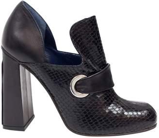 Suno Black Python Heels
