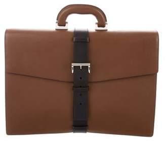 Prada Bicolor Saffiano Briefcase