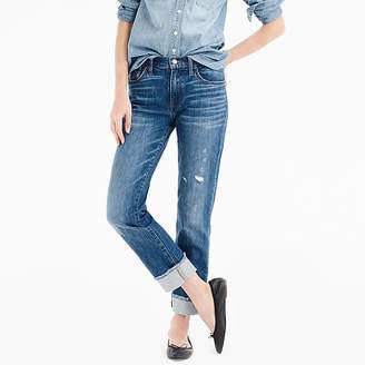 J.Crew Petite slim boyfriend jean with cut hem