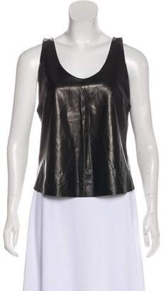 Burberry Leather Sleeveless Top