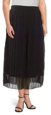 Plus Pleated Midi Skirt