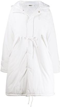 MM6 MAISON MARGIELA padded hooded oversized coat