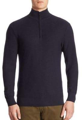 Ralph Lauren Purple Label Half-Zip Wool& Cashmere Pullover