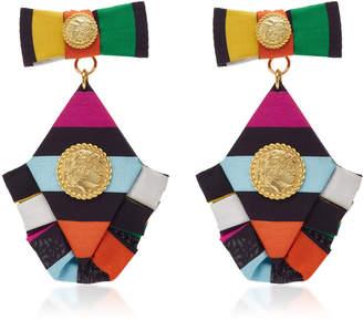 Multicolored Diamond Ruffle Earrings