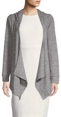 Hacci Hooded Open Front Cardigan