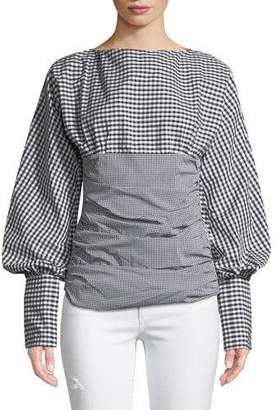 Maggie Marilyn I Did It My Way Ruched Gingham Top