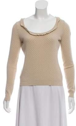 RED Valentino Metallic Knit Sweater