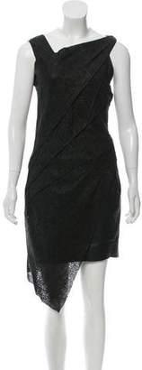 Helmut Lang Leather Mini Dress