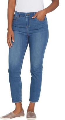 Kelly By Clinton Kelly Kelly by Clinton Kelly Petite Crop Jeans with Frayed Hem