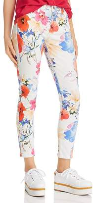 7 For All Mankind Printed Ankle Skinny Jeans in Seaside Poppies