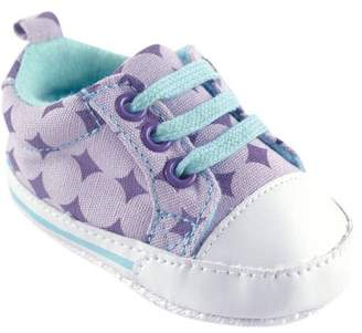 Luvable Friends Baby Girl Basic Canvas Sneakers