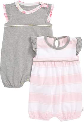 Burt's Bees Baby 2-Pack Organic Cotton Bubble Rompers
