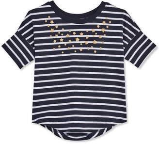 Joe Fresh Toddler Girls Stripe Round Hem Tee